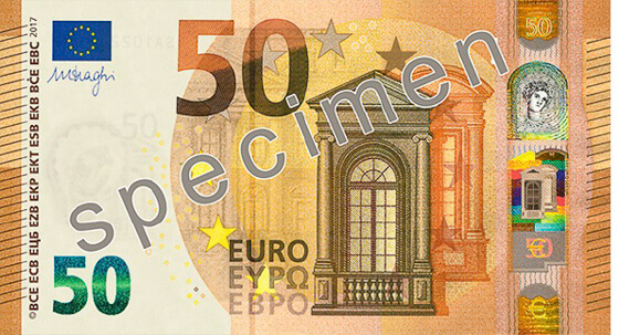 New 50 Euro banknote