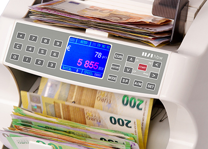 With a banknote counter you can save a lot of time