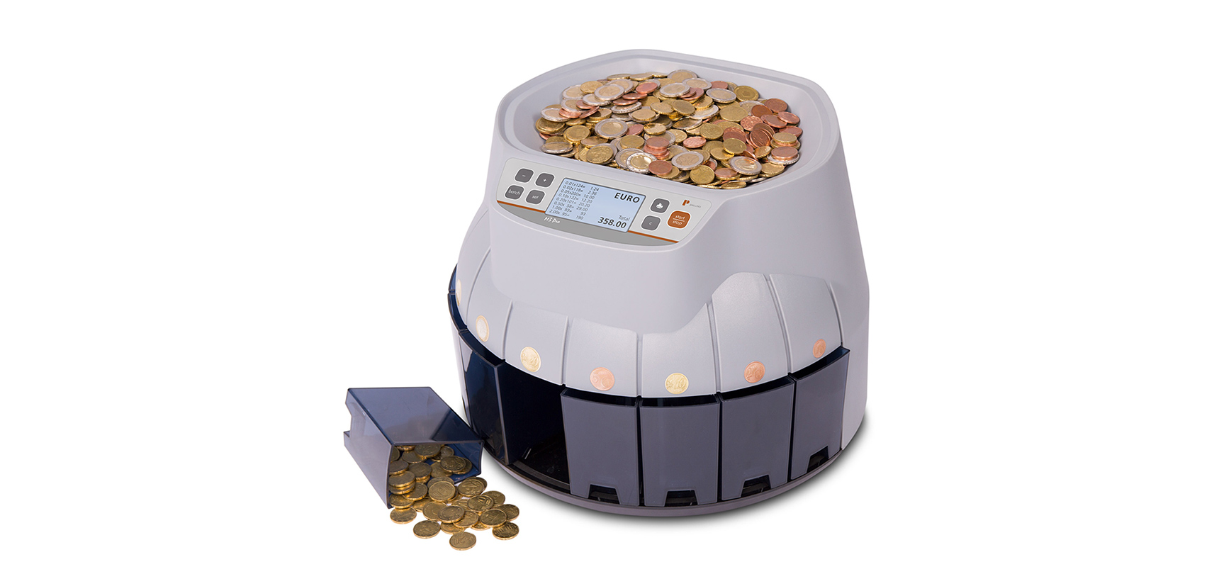 Expanded assortment at Pecunia with the coin counter M3 Pro EUR